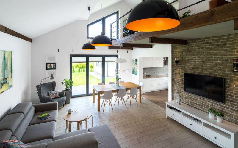 Maison contemporaine par la baie vitree - Oknoplast